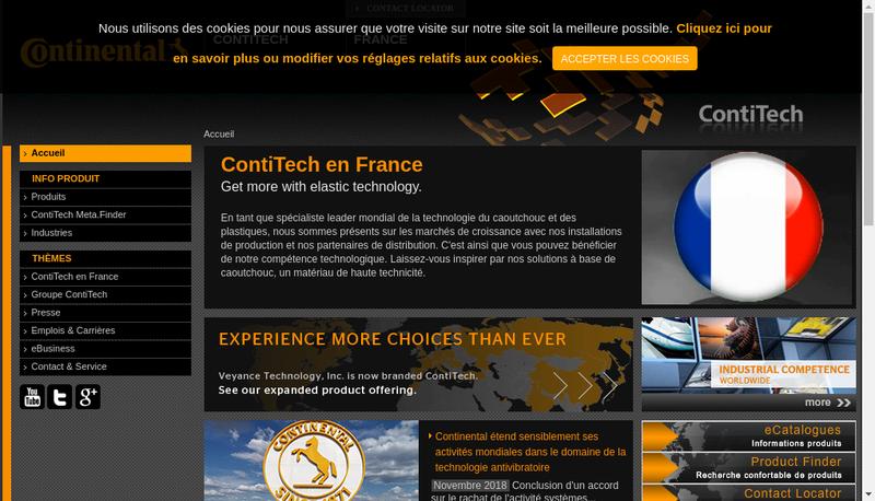 Site internet de Contitech Vibration Control France