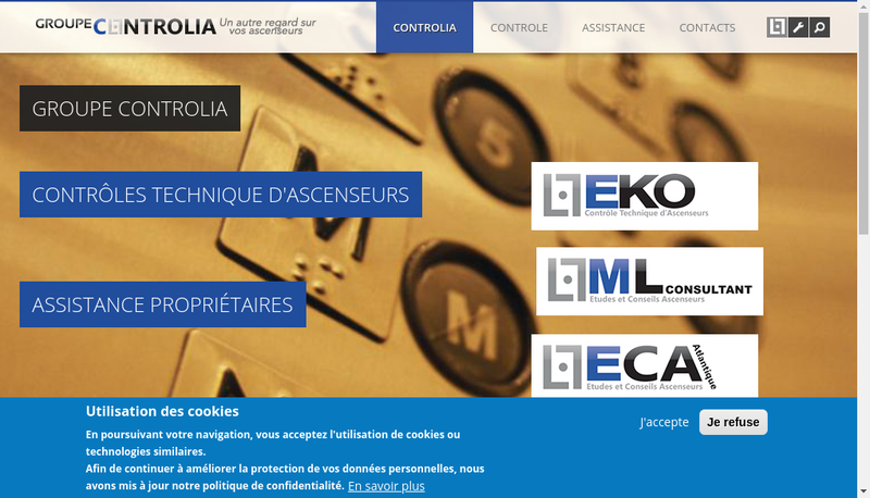 Capture d'écran du site de Ml Consultant