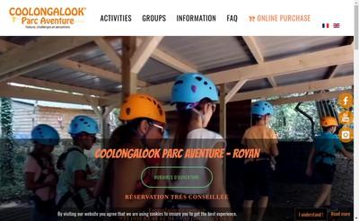 Site internet de Coolongalook Parc Aventure