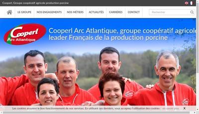 Site internet de Cooperl Arc Atlantique