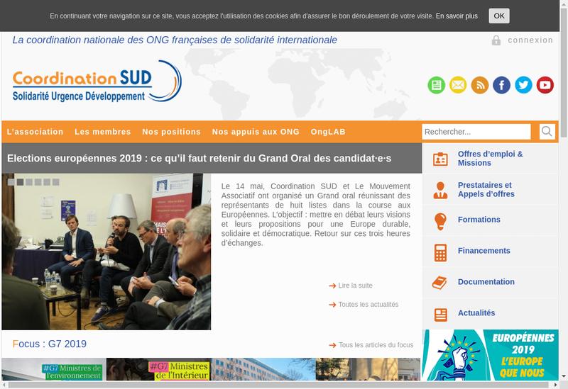 Capture d'écran du site de Management Coordination