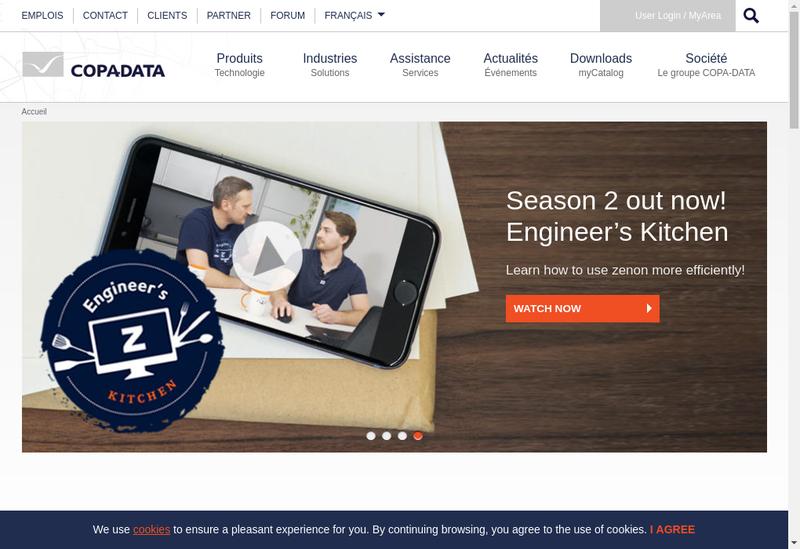Capture d'écran du site de Copa Data France
