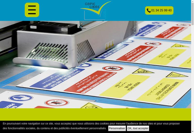 Capture d'écran du site de Copie Libre