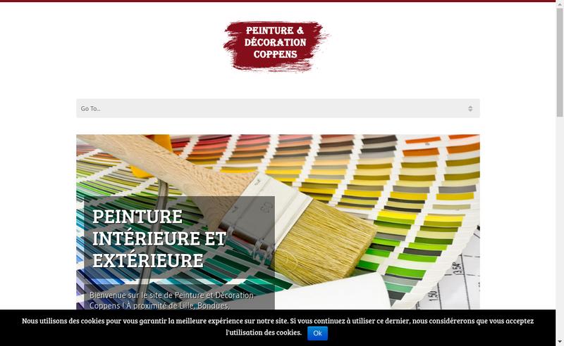 Capture d'écran du site de Coppens
