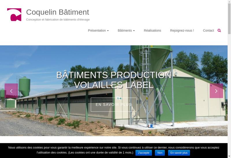 Capture d'écran du site de Coquelin Batiment