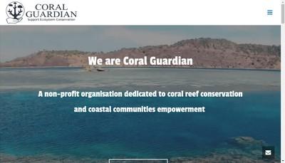 Site internet de Coral Guardian (Ong)