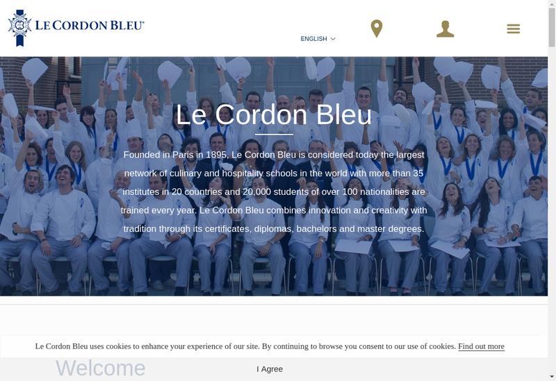 Capture d'écran du site de Le Cordon Bleu
