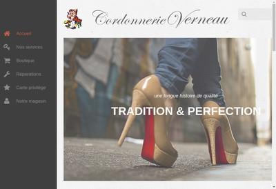 Site internet de Cordonnerie Verneau