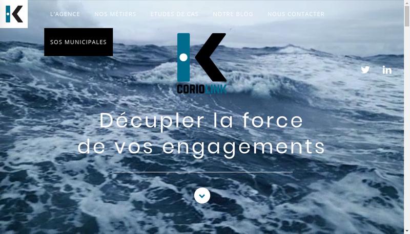 Capture d'écran du site de Coriolink