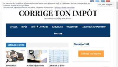 Site internet de Corrige Ton Impot