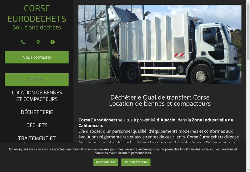 Capture d'écran du site de Corse Eurodechets