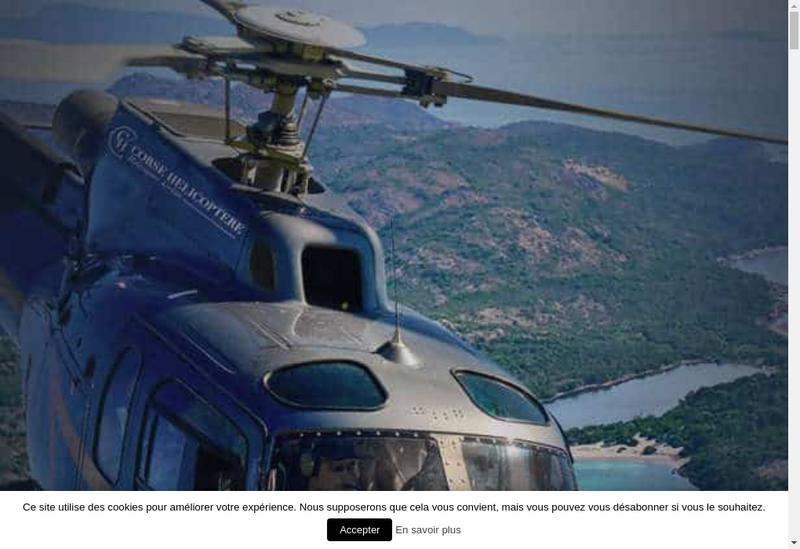 Capture d'écran du site de Corse Helicoptere