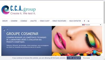 Site internet de Cosmepar Laboratoire Conseil