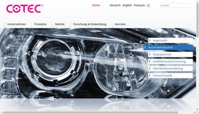 Capture d'écran du site de Cotec