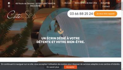 Site internet de Cote & Spa