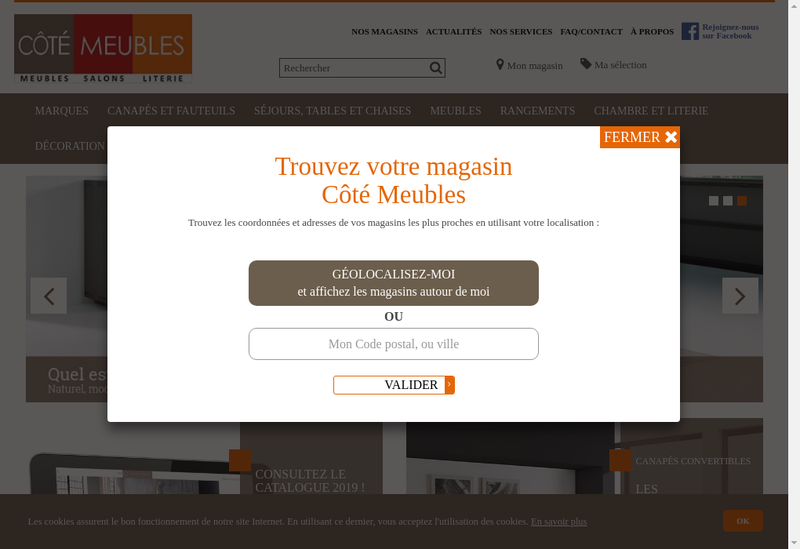 Capture d'écran du site de Meubles B le Gad
