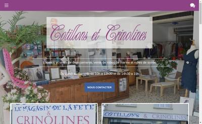 Site internet de Cotillons et Crinolines