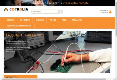 Site internet de Cotrolia