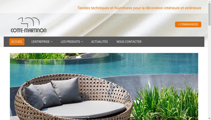 Capture d'écran du site de Cotte-Martinon