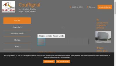 Capture d'écran du site de Couffignal