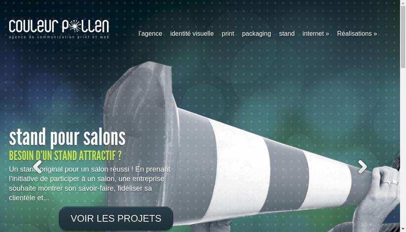 Capture d'écran du site de Couleur Pollen