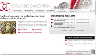 Capture d'écran du site de NOZ