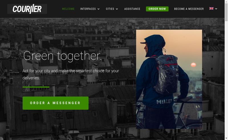 Capture d'écran du site de Couriier