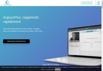 Site internet de Cours Center
