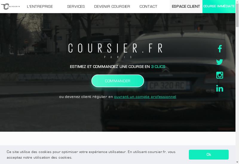 Capture d'écran du site de coursier.fr