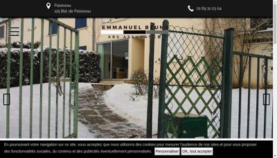 Capture d'écran du site de Abs Assurances