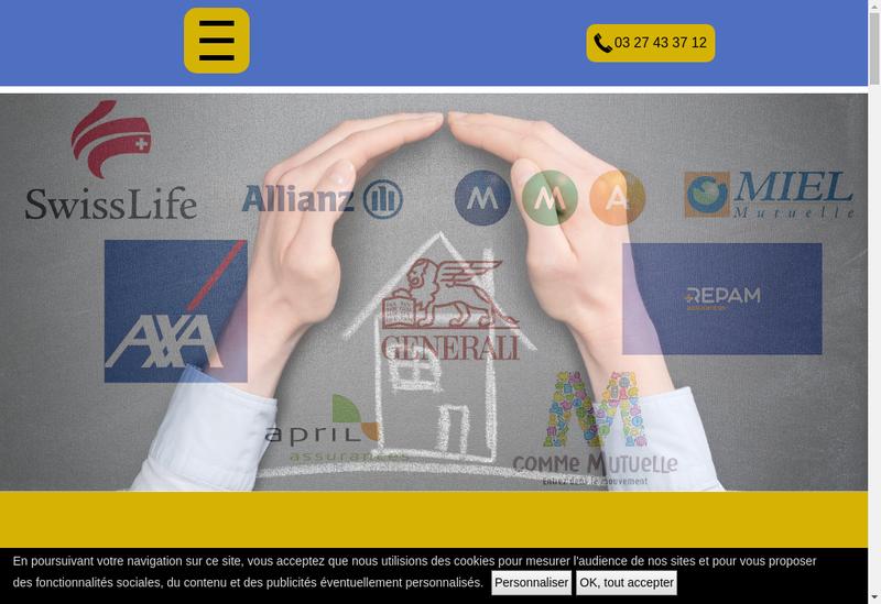 Capture d'écran du site de Cabinet Libre'Assur