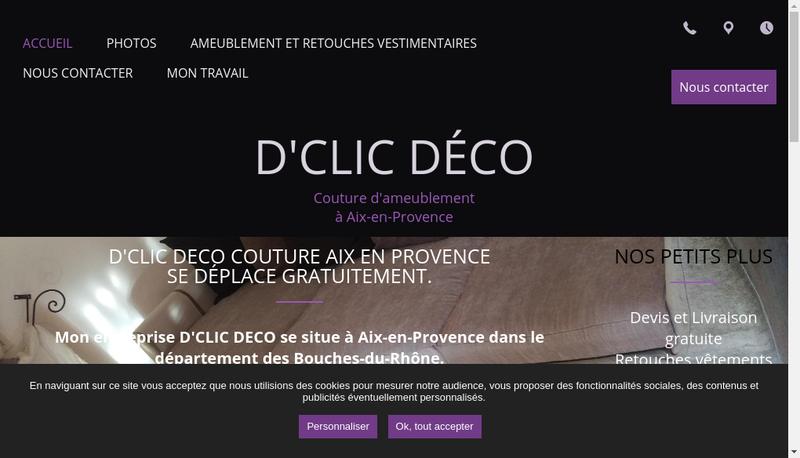 Capture d'écran du site de Stephanie Descours