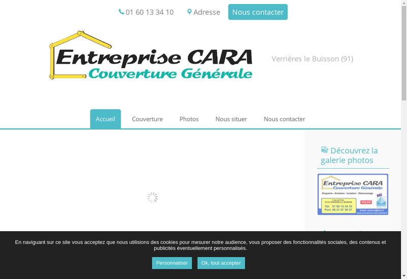 Capture d'écran du site de Entreprise Cara