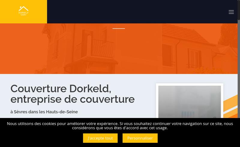 Capture d'écran du site de Gary Dorkeld