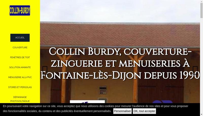 Capture d'écran du site de Collin Burdy