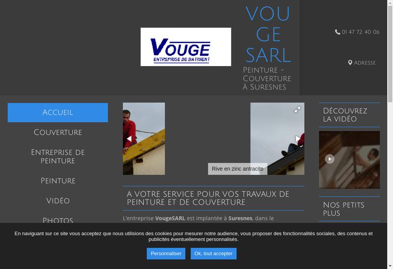 Capture d'écran du site de Vouge