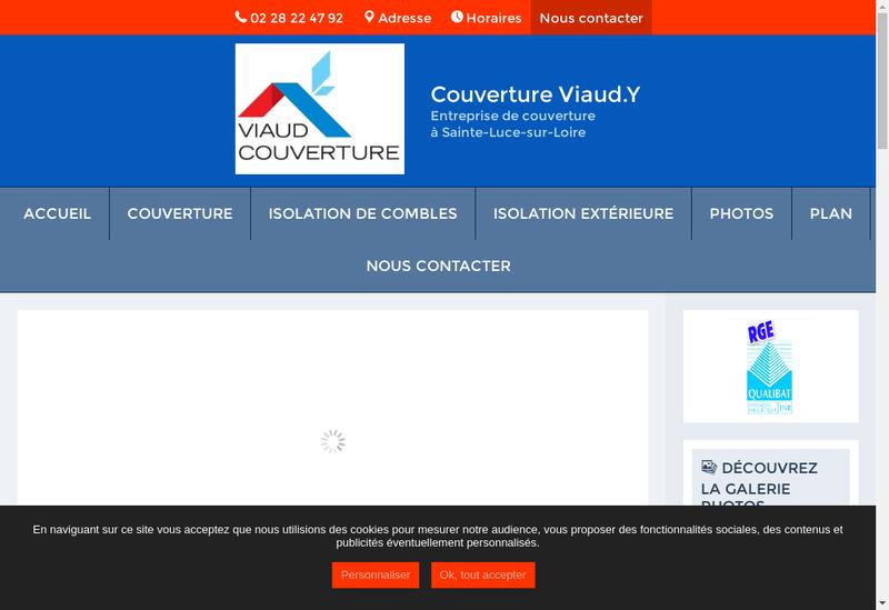 Capture d'écran du site de Couverture Viaud Y