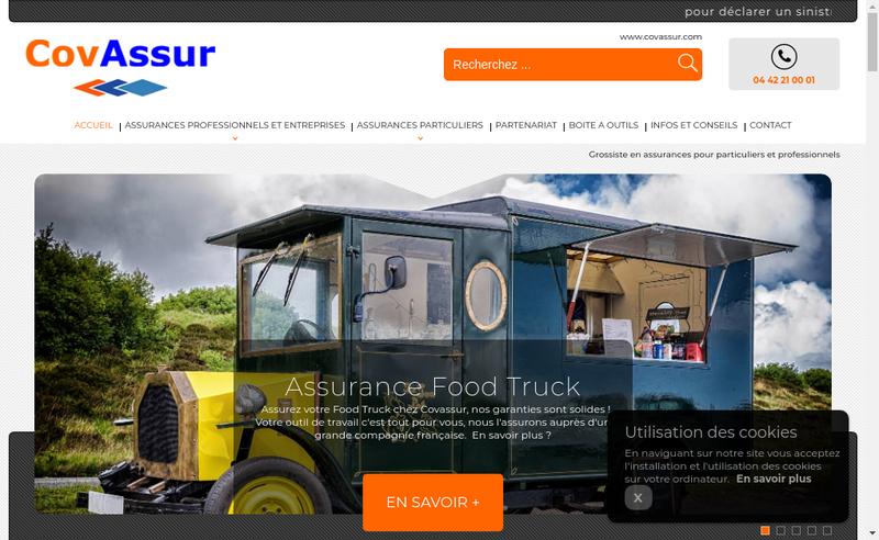 Capture d'écran du site de Covassur