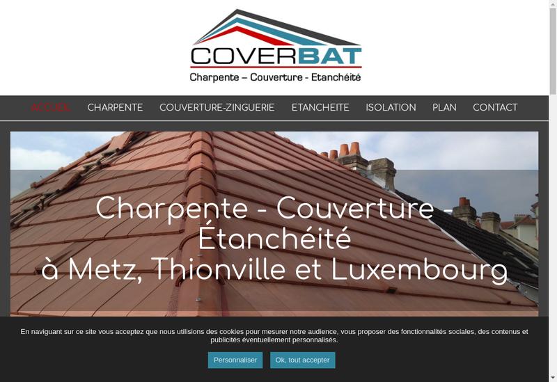 Capture d'écran du site de Coverbat