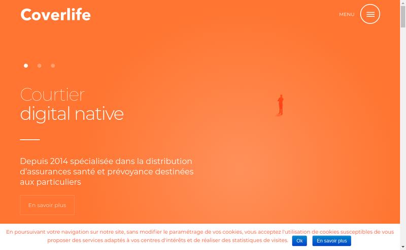 Capture d'écran du site de Coverlife