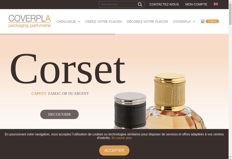 Capture d'écran du site de Coverpla