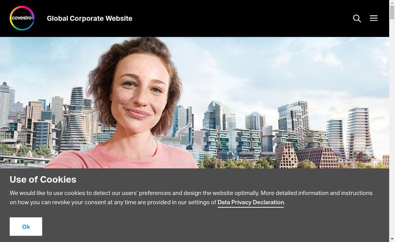 Capture d'écran du site de Covestro (France) SNC