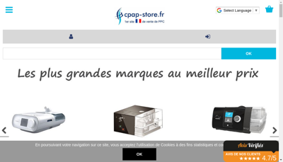 Capture d'écran du site de Medical Plus France