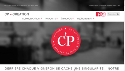 Site internet de Cp Creation