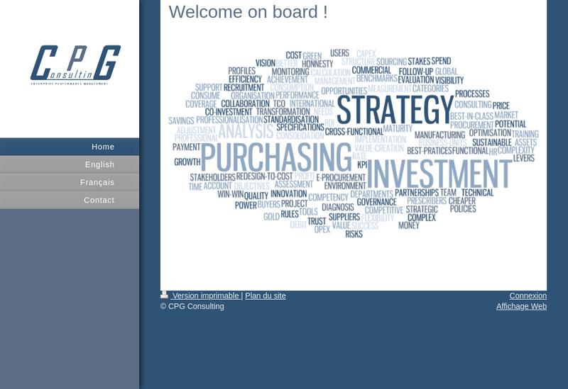Capture d'écran du site de Cpg Consulting