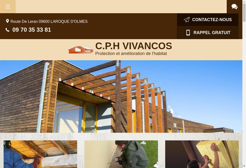 Capture d'écran du site de CPH