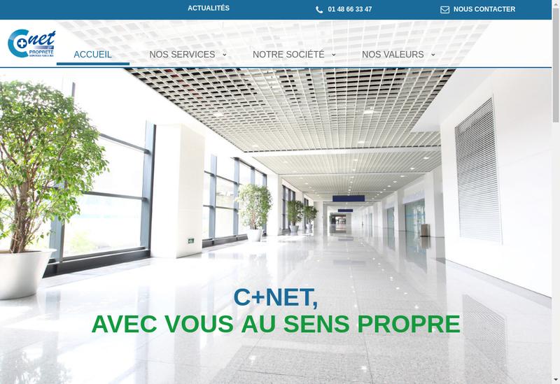 Capture d'écran du site de C+.net