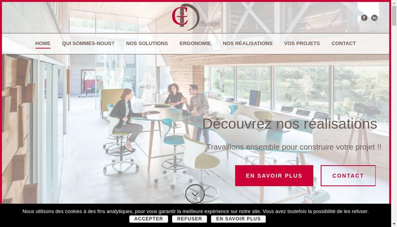 Capture d'écran du site de C Plus Diffusion