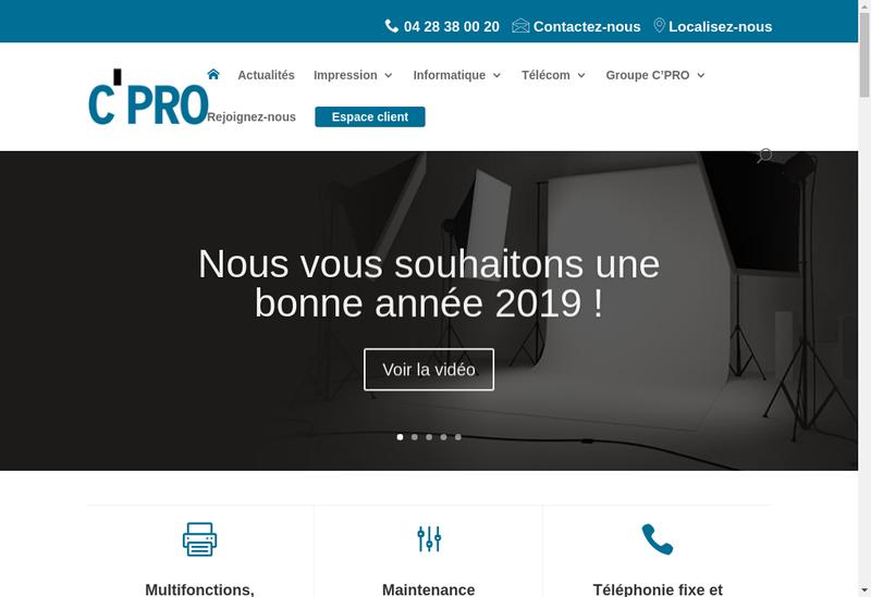 Capture d'écran du site de Axe Gestion Informatique