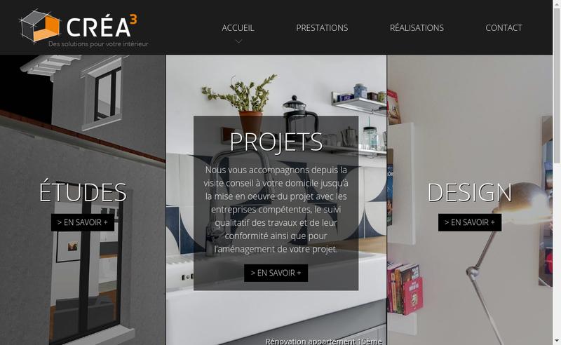 Capture d'écran du site de Crea3